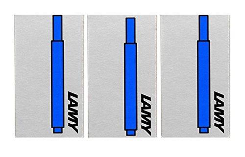 Lamy T10 LAVABLE AZUL Cartuchos de tinta para pluma Recambio Repuesto Para Todo Lamy Estilográfica bolígrafos (paquete de 3-15 Cartuchos de Tinta)