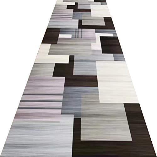 ZRUYI Tappeti Runner Tappeto Passatoia Corridoio Carpet Resistente all'Usura Durevole Motivi Geometrici Moderno Domestico Tappetino, 2 Colori, Personalizzabile (Color : B, Size : 0.8x5m)