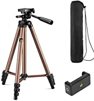 Syvo WT 3130 Aluminum Tripod (50-Inch), Universal Lightweight Tripod with Mobile Phone Holder Mount & Carry Bag for All...