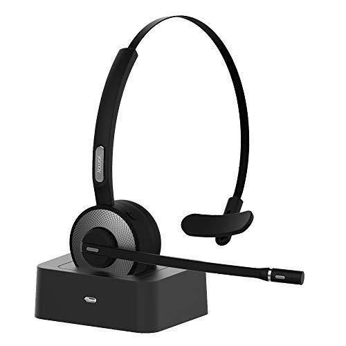 Bluetooth ヘッドセット 片耳 ハンズフリー 通話 音楽 最大17時間使用 オンライン Web skype 会議 在宅勤務 トラック運転手 コールセンター ビデオチャット bluetooth ヘッドフォン Android & iphone & PC &PS3対応 音質高 Yamay