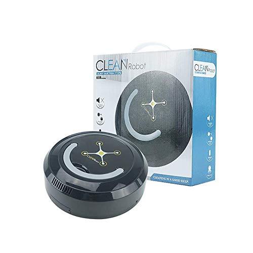 SCLL Aspiradora Robótica USB Práctico, Ultrafino, Fuerte SOG, Silencioso, para Aspirar en Interiores, Negro