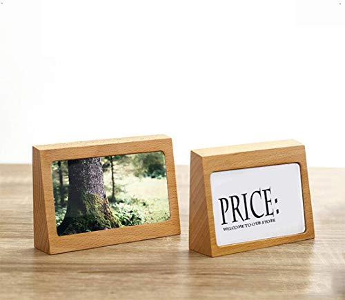 Tarjetero de madera de haya, para tarjetas de visita, carteles, etiquetas, carteles, etc, para tiendas especializadas, oficinas, recepciones, exposiciones, 100 x 75 x 28 mm