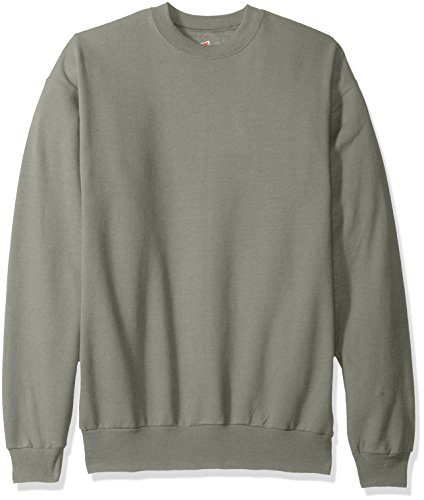 Hanes Men's EcoSmart Fleece Sweatshirt, Stonewashed Green, Medium
