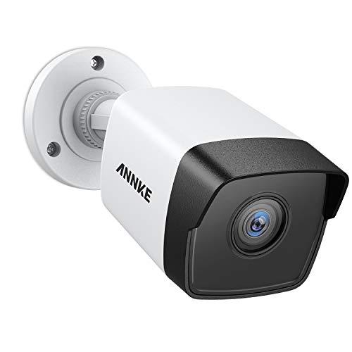 ANNKE C500 5MP POE Überwachungskamera, H.265+ HD Wasserfest IP Kamera für Haus Sicherheit Innen Außen Videoüberwachung mit Nachtsicht bis zu 30 Meter, Handy und PC Fernzugriff mit 30m EXIR Nachtsicht