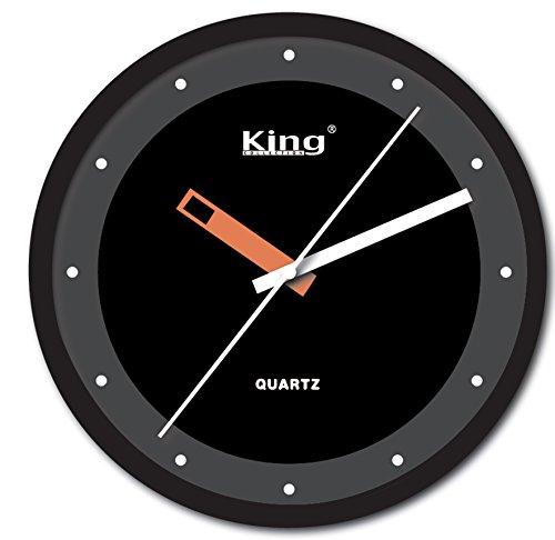 King Home o1673829 Horloge Murale, Noir