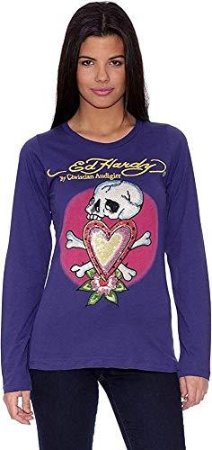 Ed Hardy Camiseta Skull In Love Púrpura L