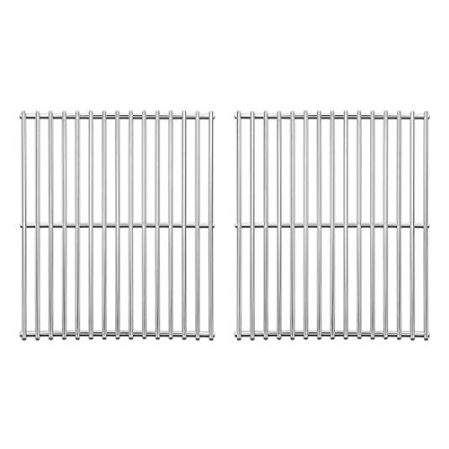 Stainless Steel Cooking Grates for Broil King 9865-54, 9221-64, Broil-Mate 165154, Grill Grid Replacement for Huntington and Sterling Gas Grill Models, 15' Grill Grates Parts Set of 2 Grids