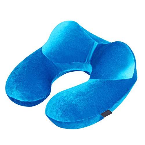 HJK Hinchable Almohada de Cuello, Portátil Elikliv Almohada Ortopédica Cervica, Utilizado para la Siesta en la Oficina, Descanso de Viaje,Verde