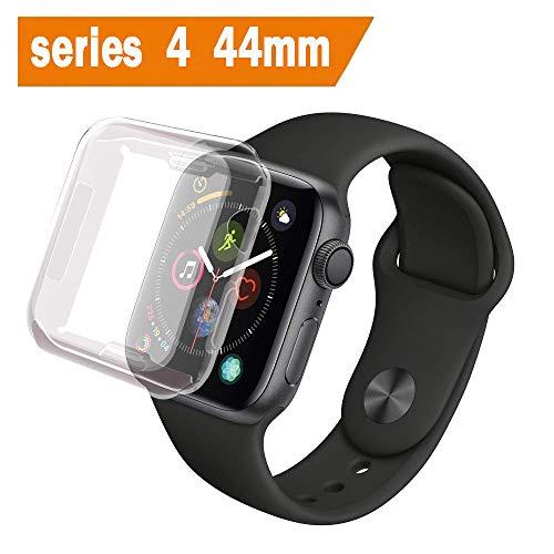 ALOUCH Cover Apple Watch Serie 4/Series 5 44mm, iWatch 44mm Custodia Protettore Schermo Protettivo Tutto Intorno Chiarissimo Morbido TPU Paraurti Pellicola Protettiva Case per Apple Watch 4 44mm