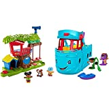 Fisher Price Little People Swing and Share Treehouse Playset [Amazon Exclusive] & Fisher Price Little People Travel Together Friend Ship [Amazon Exclusive] -  Fisher-Price