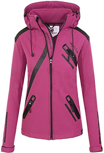 Rock Creek Damen Softshell Jacke Übergangs Jacke Windbreaker Regenjacke Damenjacken Outdoorjacke Windjacke D-371 Pink M