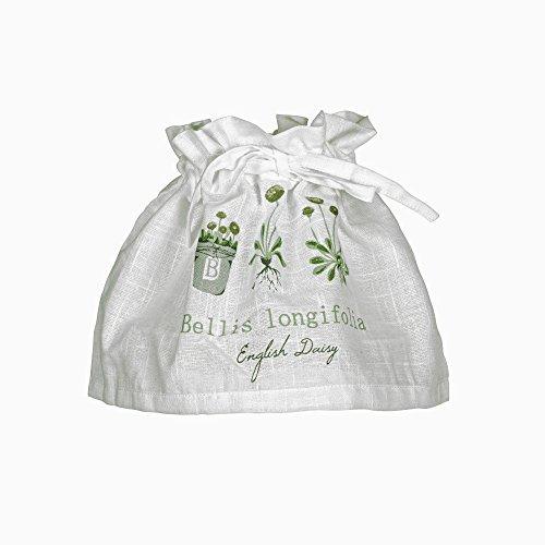 Lampenschirm-Husse mit Gestell \'Bellis\' weiß mit Blumenmuster-Aufdruck in grün grau Baumwolle Skandinavisch Landhaus Shabby French Vintage Retro Antik Nostalgie