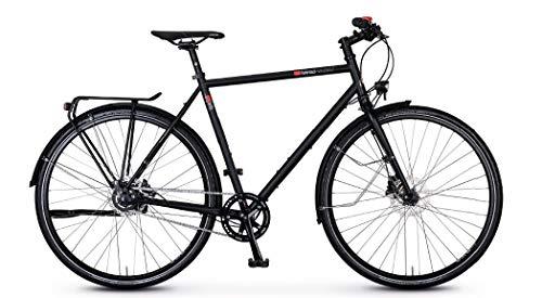 vsf - Bicicletta da trekking T-500 Shimano Alfine 8-G Disc Trekking Bike 2020 (28' diamante 57 cm, Ebony opaco)