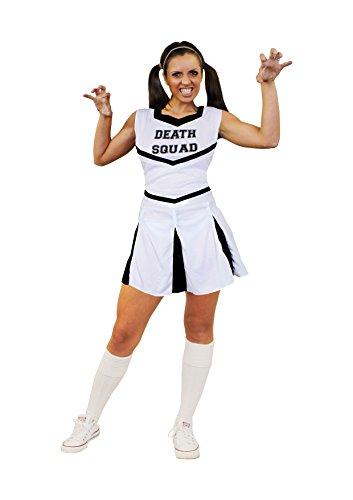 I LOVE FANCY DRESS LTD ÜBERGRÖSSEN Karneval Fasching KOSTÜME VERKLEIDUNG FÜR Frauen MIT DER PERFEKTEN KURVIGEN Figur=WEISSES Cheerleader Kleid+Pompoms=SEXY Party =XXLarge