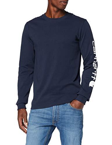 Carhartt. Ek231. Nvy. S006 Sleeve Logo T-Shirt, Large, Bleu marine