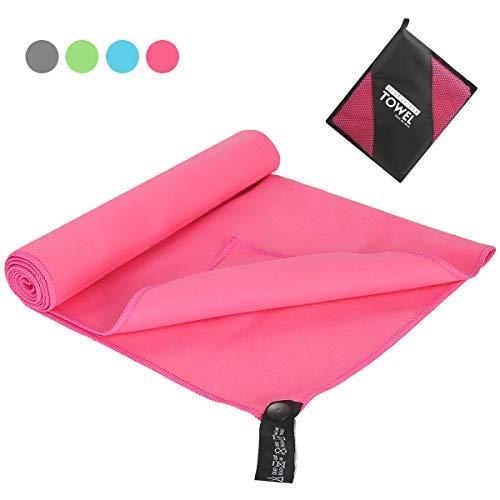 OhhGo Toalla de Microfibra Toalla Absorbente de Secado rápido Toalla de baño Grande con Bolsa de Transporte para Camping Gimnasio Playa natación Yoga