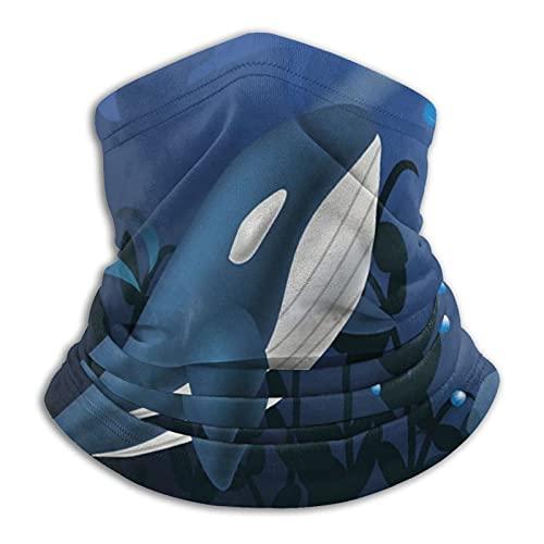 best& Cure djuphavsval härlig bandana ansiktsmask - huvudbonad bandana ansiktsmask för ansiktsmask, pannband scarf halsgång gång tvättbar andningsbar dammsäker motorcykel skägg täcker masker för män och kvinnor