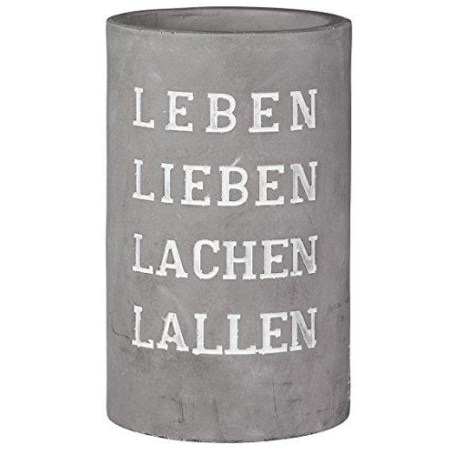 Räder Vino Beton Weinkühler Leben Lieben Lachen Lallen