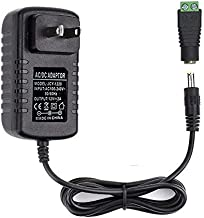 VeeDoo Universal 12V DC Power Adapter, 12 Volt LED Strip Lights Power Supply 2A 24W, Wall Mounted AC110V to DC12V Switching Transformers with 5.5/2.1 DC Female Barrel Connector to Screw Adaptor