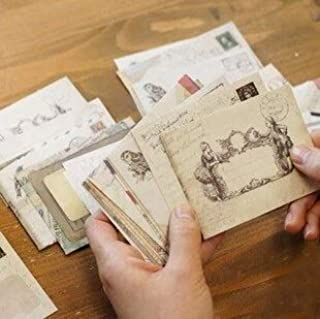 60 pcs/set Vintage Small Mini Kraft Paper Window Envelopes wedding invitation envelope gift envelope Ancien 73 * 95mm