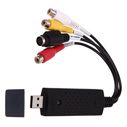 Redgo VHS a DVD convertitore audio, USB 2.0scheda di acquisizione video, video VHS VCR TV AV al convertitore digitale per PC Win 2000, WIN vista, Win 7, Win 8, Win 10, XP e Mac sistema
