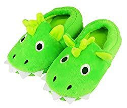 8. Tirzrro Kids Warm Memory Foam Dinosaur Slippers