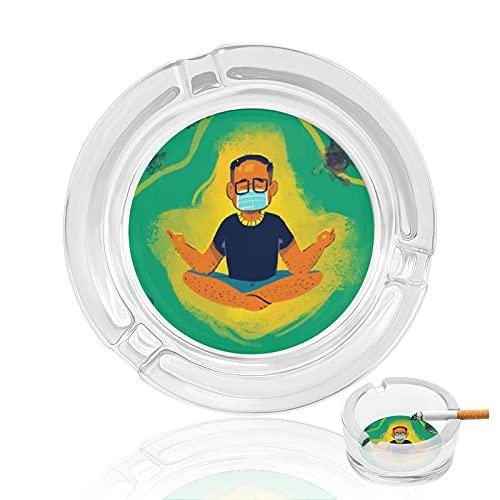 Cenicero de cristal transparente para cigarrillos, para uso privado y gastronómico