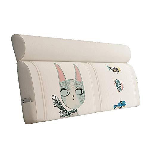 B-fengliu Kopfbrett Kissen - Matratze Nordic Lesen Kissen Kopfsoftpack Tatami Bettdecke großes Kissen Stoff abnehmbar und waschbar (Color : A, Size : Without headboard-90CM)