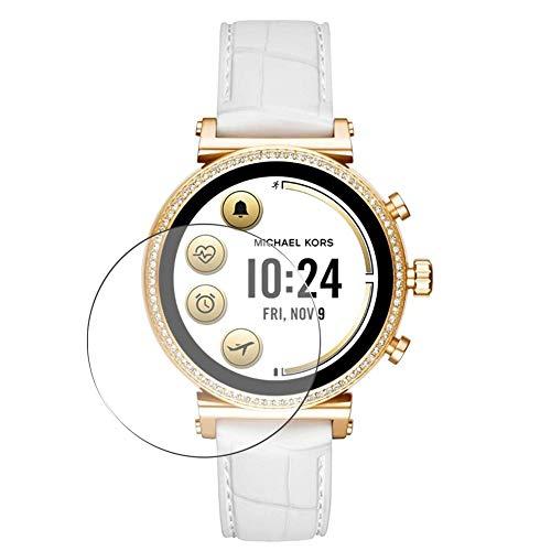 Vaxson 3-Pack TPU Pellicola Protettiva, compatibile con Michael Kors Smartwatch MKT5067 Smartwatch smart watch, Screen Protector Film [ Non Vetro Temperato ]