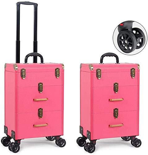 HIZLJJ Professionelle Rollen-Verfassungs-Fall Artist Travel tragbare Reise Makeup Trolley...