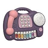 Juguete Montessori para niños, juguete educativo de escena real eléctrica simulada con juego de piano de tambor, juguetes educativos portátiles, juguetes para teléfonos para niños