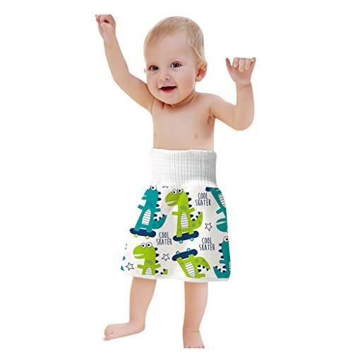 Body Stoffwindeln Bequeme Wiederverwendbare Windel Rock Shorts 2 in 1 Jungen Mädchen Trainingsrock Wasserdichter Windelrock mit Hoher Taille, C, 0-4 Jahre