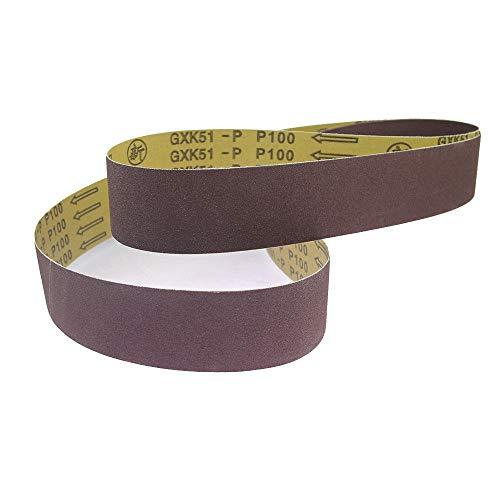 5 piezas 48 '' / 63 '' / 72 ''* 2 & quot;Banda de lijado para accesorios de amoladora de banda de pulido de metales, 1600x50 mm, P180