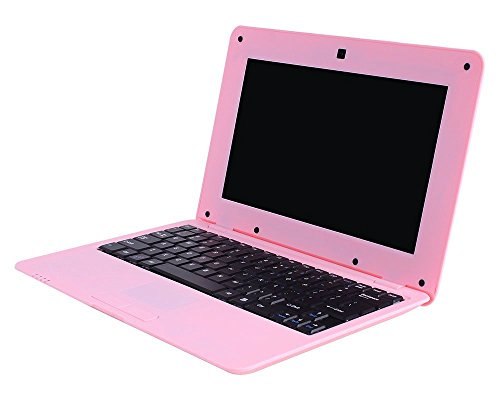 Fancy Cherry® Nueva 2017 HD 10 Pulgadas Mini Laptop Notebook Netbook Tablet Computer 1 G DDR3 través WM8880 CPU Dual Core Android de Pantalla Cámara WiFi Teclado USB HDMI Netbook (Netbook 8G-Rosa)