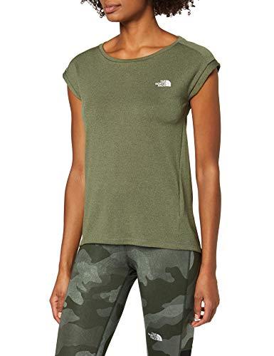 The North Face Tanken T-Shirt Femme, Vert (Four Leaf Clover DRK HTHR), S