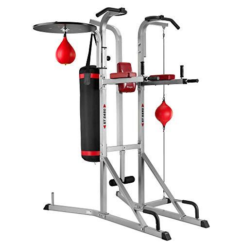 BH Fitness ST5450 G545 Multistazione rigida per tutto il corpo con pungiball e sacco. Per trazioni, flessioni, addominali e gambe