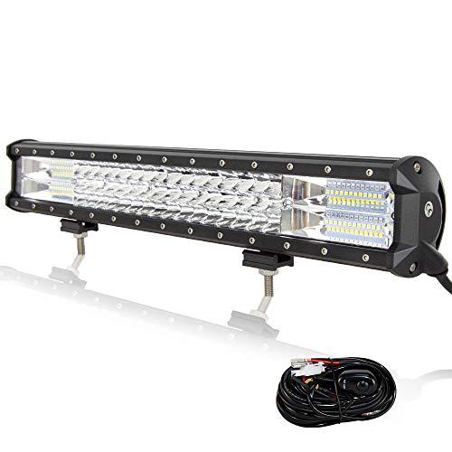 Willpower 51cm 288W LED Arbeitsscheinwerfer Bar LED Scheinwerfer 12V 24V mit Kabelbaum Flutlicht Reflektor Combo Arbeitslicht Zusatzscheinwerfer für Auto Offroad Traktor SUV UTV ATV