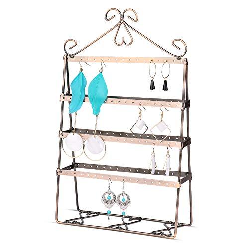 Flexzion Sieraden Toren Organizer, Metalen Accessoires Houder, Antieke 4-laags Display Stand voor Ophangen Kettingen Armbanden, Ornament Opslag voor Dresser Nachtkastje Tafelblad Desktop