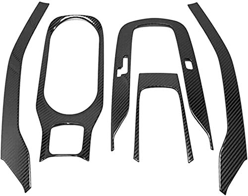 ZHAOHAOSCFit, für 2019 2020 Toyota Corolla CarbonInnenzahnradverkleidungWasserbecherhalter Abdeckung Verkleidung