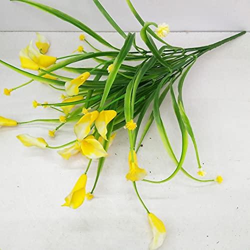 TXXT Künstliche Kunststoff Orchidee Blume, Hochzeit Home Hotel Wohnzimmer Büro Tisch Garten DIY Dekoration Ewige Rosen (Farbe : Yellow)