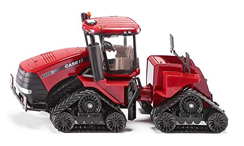 SIKU 3275, Case IH Quadtrac 600 Raupenschlepper Traktor, 1:32, Metall/Kunststoff, Rot, Funktionales Knickgelenk und SIKU-Heck-Kupplung