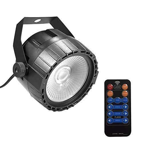 Lixada LED Discolicht mit Fernbedienung, 30 W, RGB & UV Bühne Beleuchtung, helle und glatte Farbmischung, 8 Kanäle DMX und Dimmer, Strobe, Puls, Farbverlauf Lichteffekte
