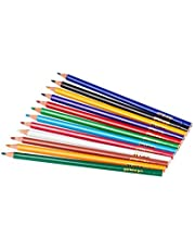 Stylex 25088 - Crayons triangular, woodfree, long, Set of 12, painted