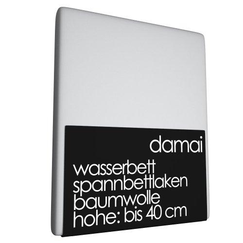 Damai Damai boxspring - waterbed hoeslaken lichtgrijs - 160 x 210 cm 100% katoen