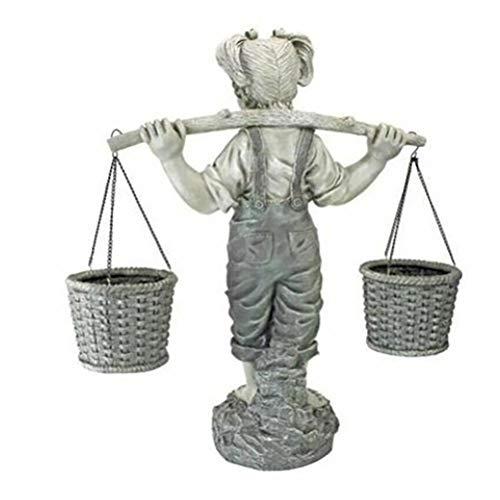 Qiekenao Freitragende Schulter, Mädchen, stehend, Kunstharz, 3D, dreidimensional, Kunstharz, Kunst, Garten, Statuen, Heimdekoration