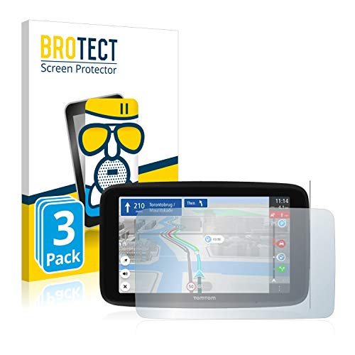 BROTECT Protector Pantalla Cristal Mate Compatible con Tomtom GO Discover 6' Protector Pantalla Anti-Reflejos Vidrio, AirGlass (3 Unidades)
