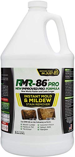 RMR-86 Pro Instant Mold Stain & Mildew Stain Remover - Contractor Grade Cleaning Solution, Professional Quality Formula, Odor Removal, 1 Gallon