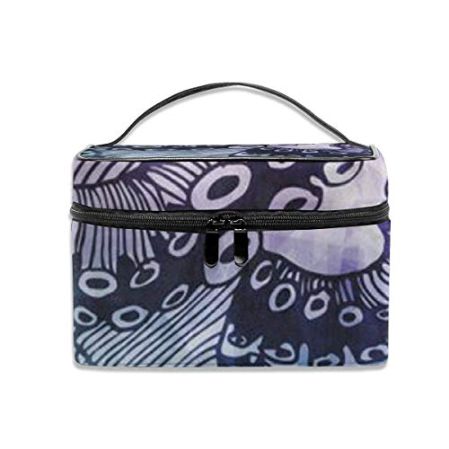 Octopus Travel Makeup Train Case Makeup Cosmetic Case Organizer Portable Artist Storage Bag-U23-HTC