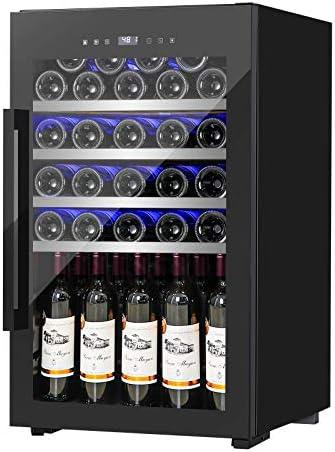 FANCOOL Wine Cooler 63 Bottle Compressor Wine Fridge Freestanding Wine Cellars w Beech Shelf product image