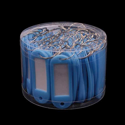 Yushu 50Pcs Colorful Key Id Luggage House Label Tag Split Ring Keyring Plastic Key Tag Key Tags with Split Ring Family Key Fobs Labels ID Keyring Tags